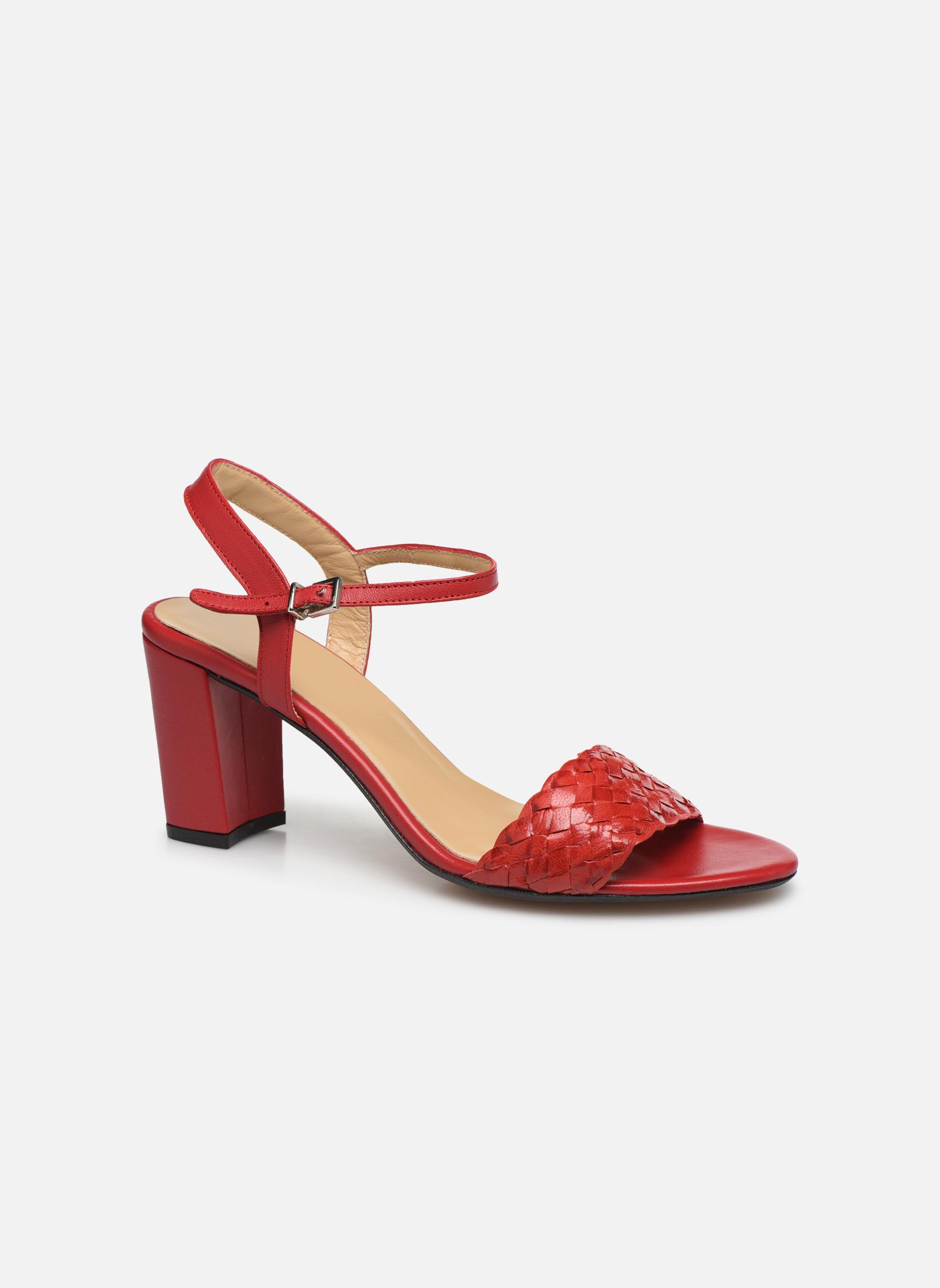 Sandales et nu-pieds Georgia Rose Satresse Rouge vue détail/paire