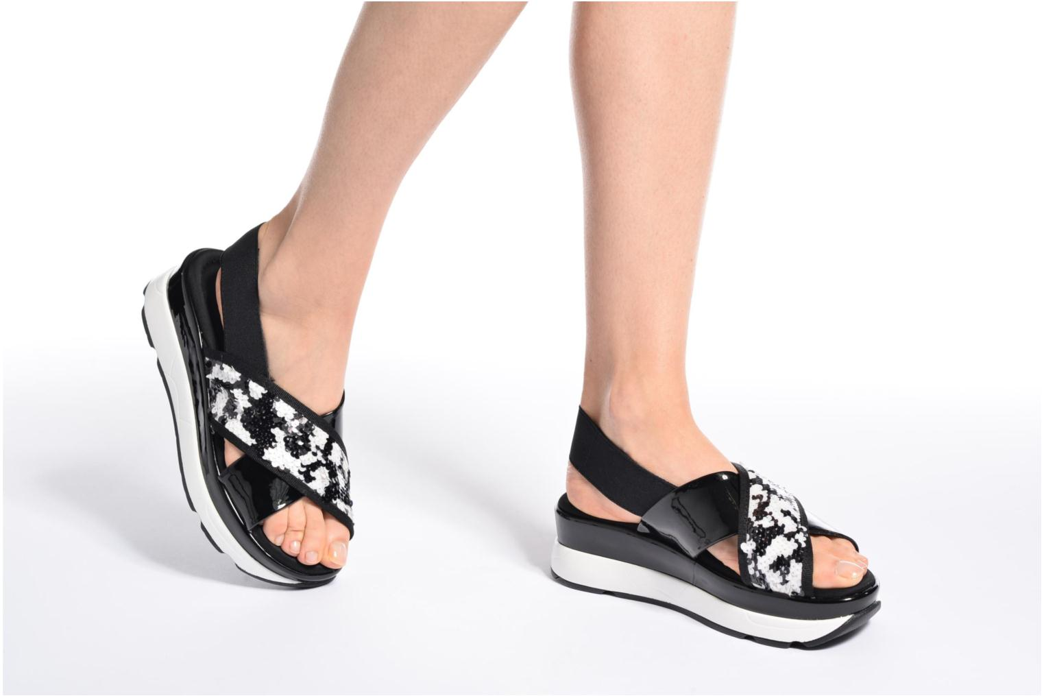 Sandals Sixty Seven Oden 78602 Black view from underneath / model view