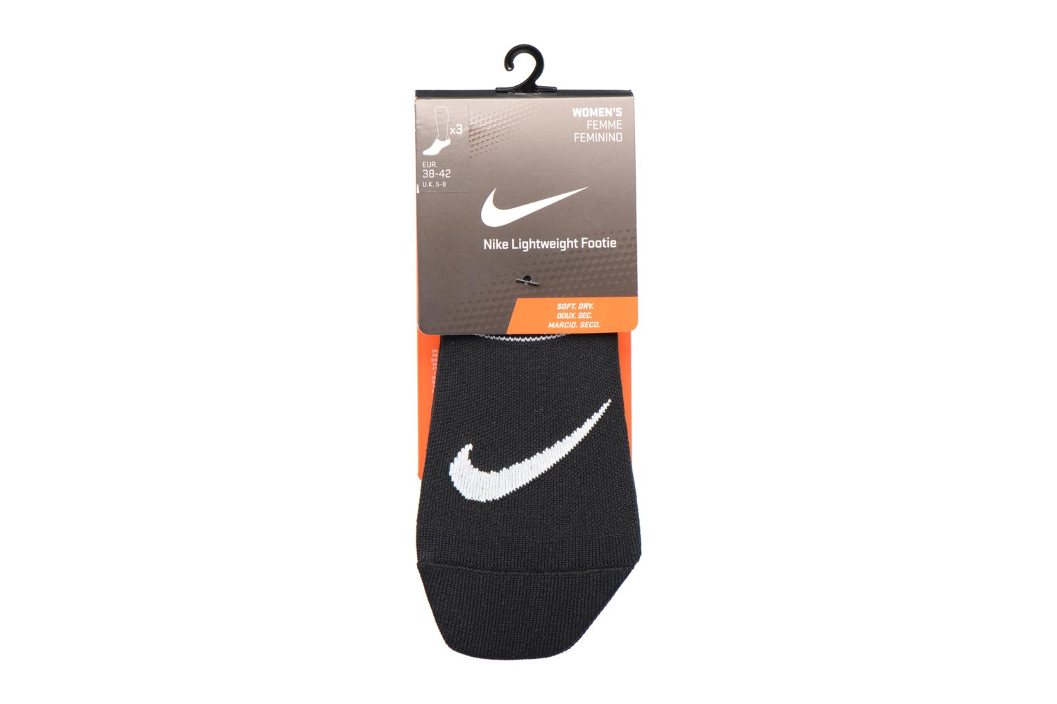 Women's Nike Performance Lightweight Training Footie 3PR Blackwhite