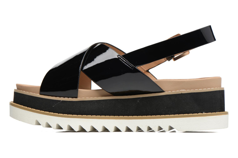 Sandales et nu-pieds MTNG Virginia 50915 Noir vue face