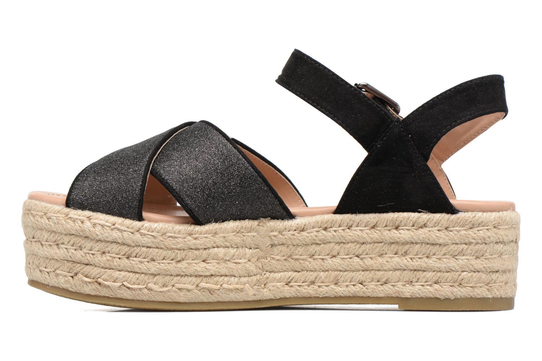 Sandales et nu-pieds MTNG Tessi 50973 Noir vue face