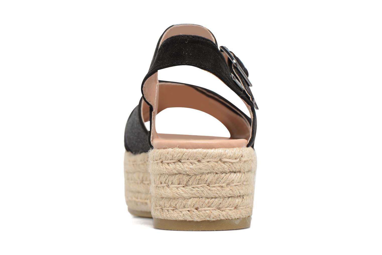 Sandales et nu-pieds MTNG Tessi 50973 Noir vue droite