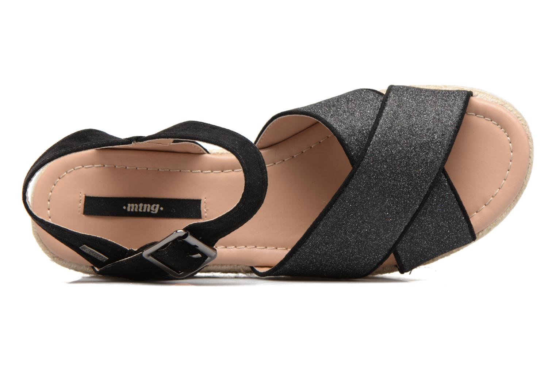 Sandales et nu-pieds MTNG Tessi 50973 Noir vue gauche