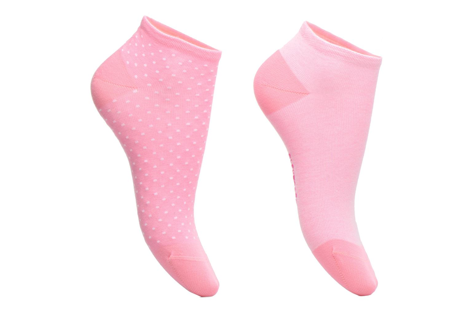 Socks & tights BLEUFORÊT DUO MINI-SOX POIS & SWEAT Pink detailed view/ Pair view