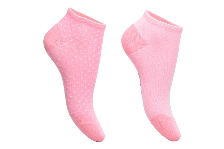 Chaussettes et collants BLEUFORÊT DUO MINI-SOX POIS & SWEAT Rose vue détail/paire