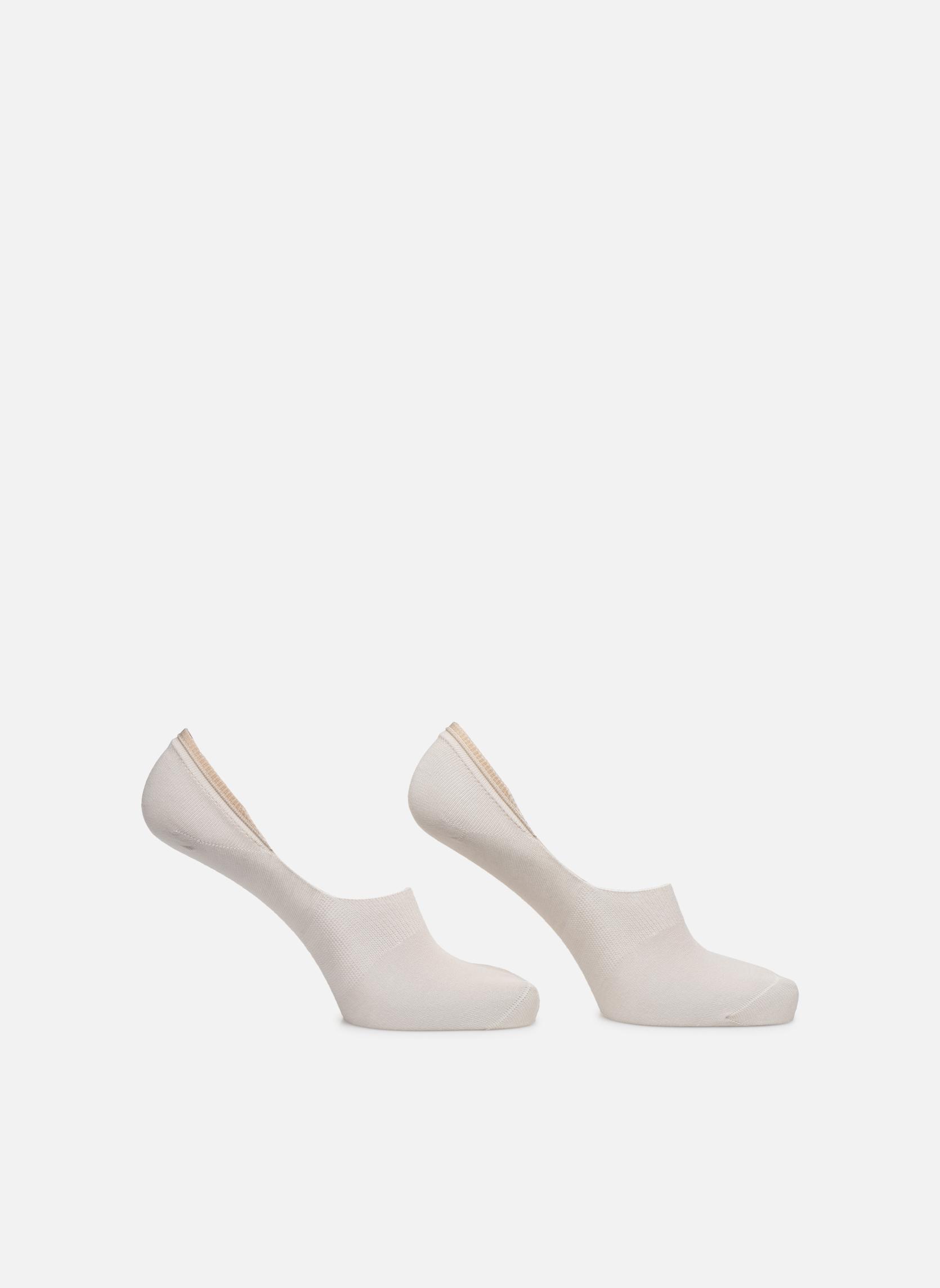 Sokken en panty's BLEUFORÊT DUO PROTEGE-PIEDS COTON Beige detail