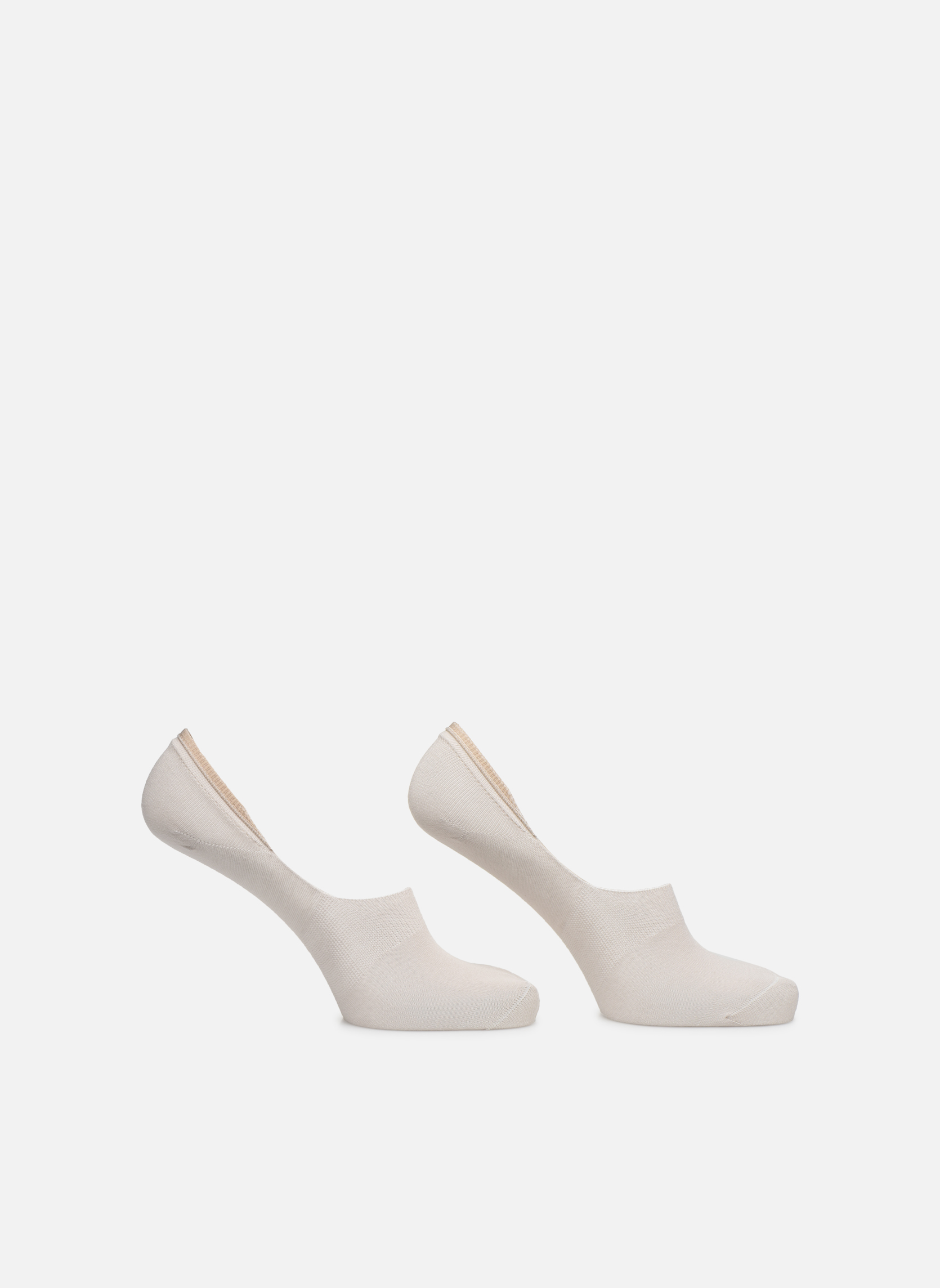 Socks & tights BLEUFORÊT DUO PROTEGE-PIEDS COTON Beige detailed view/ Pair view