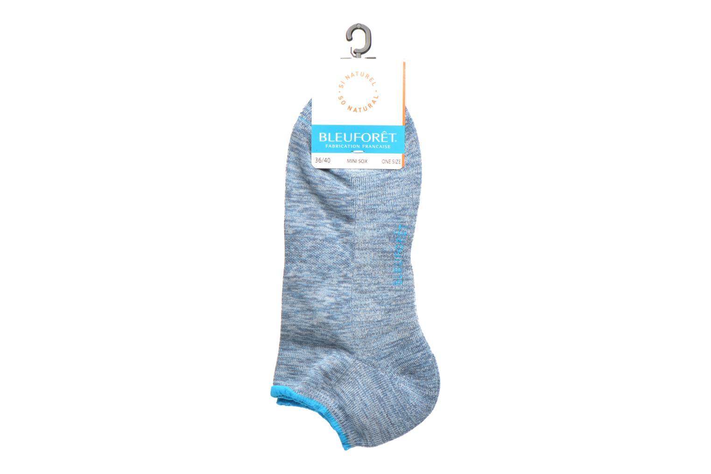 Chaussettes et collants BLEUFORÊT MINI-SOX WEEK-END BOUCLETTES Bleu vue portées chaussures