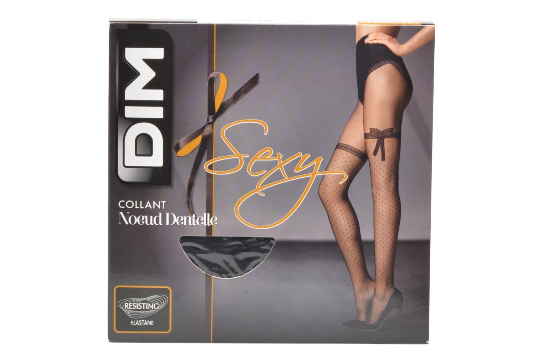 Chaussettes et collants Dim Sexy Nœud Dentelle Noir vue détail/paire