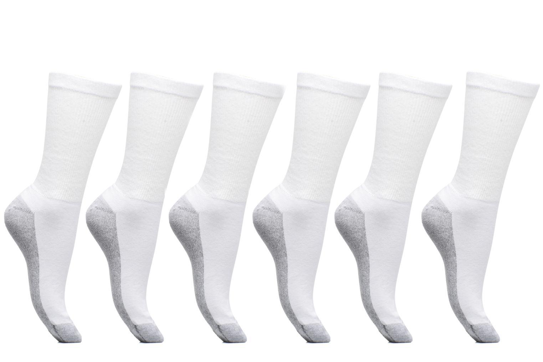 Chaussettes et collants Dim Mi-Chaussette Ecodim Sport Lot de 6 Blanc vue détail/paire