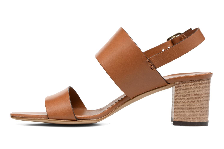 Sandales et nu-pieds Georgia Rose Batine Marron vue face
