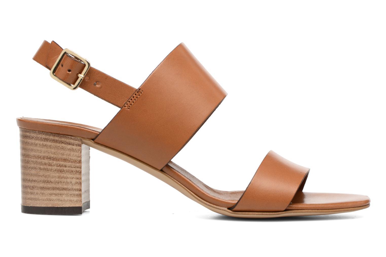 Sandales et nu-pieds Georgia Rose Batine Marron vue derrière