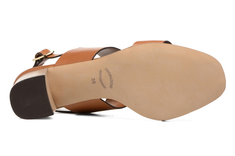 Sandales et nu-pieds Georgia Rose Batine Marron vue haut
