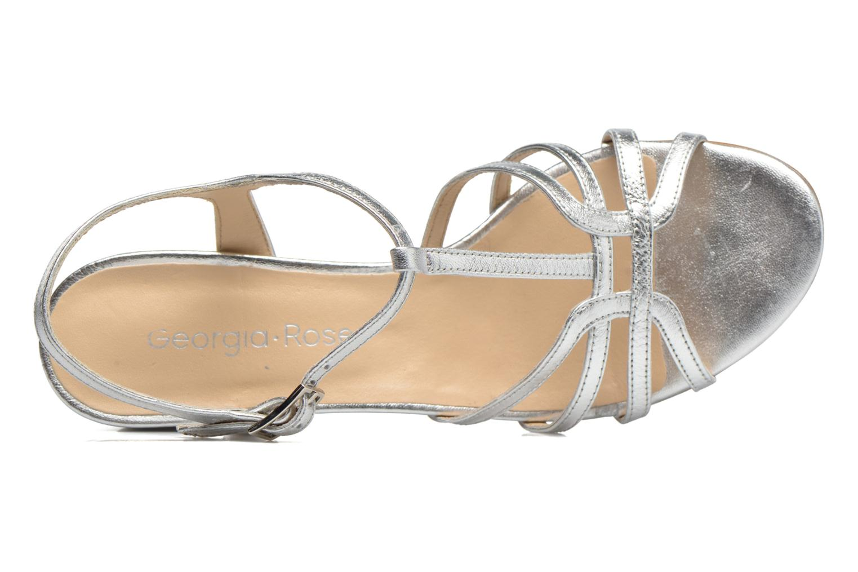 Sandales et nu-pieds Georgia Rose Bachic Argent vue gauche