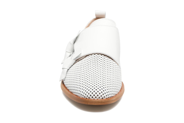 Mocassins MAURICE manufacture Jeff Blanc vue portées chaussures