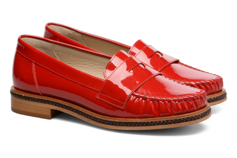 Mocassins MAURICE manufacture Seb Rouge vue 3/4