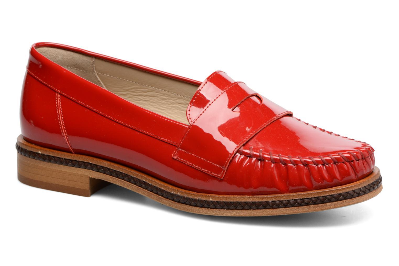 Mocassins MAURICE manufacture Seb Rouge vue détail/paire