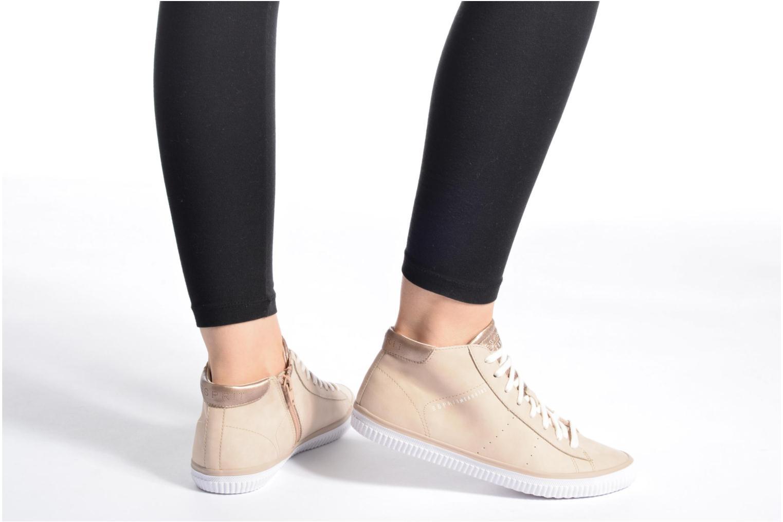 Sneaker Esprit Riata Bootie beige ansicht von unten / tasche getragen