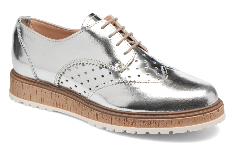 Chaussures à lacets Esprit Crissy Metal Lace up Argent vue détail/paire