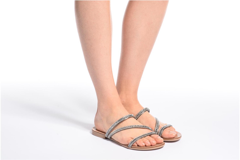 Sandales et nu-pieds Esprit Nil sandal Noir vue bas / vue portée sac
