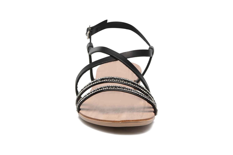 Sandales et nu-pieds Esprit Nil sandal Noir vue portées chaussures
