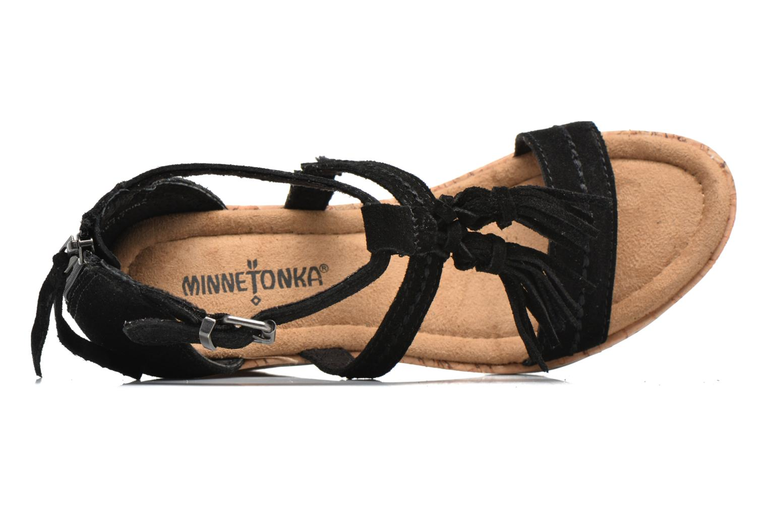 Sandals Minnetonka Lincoln Black view from the left