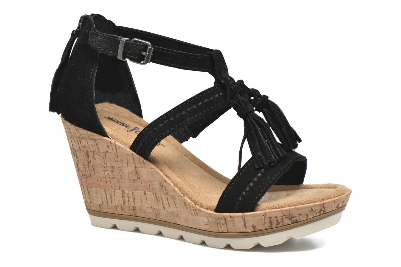 Los zapatos más populares para hombres y mujeres Minnetonka Lincoln (Negro) - Sandalias en Más cómodo