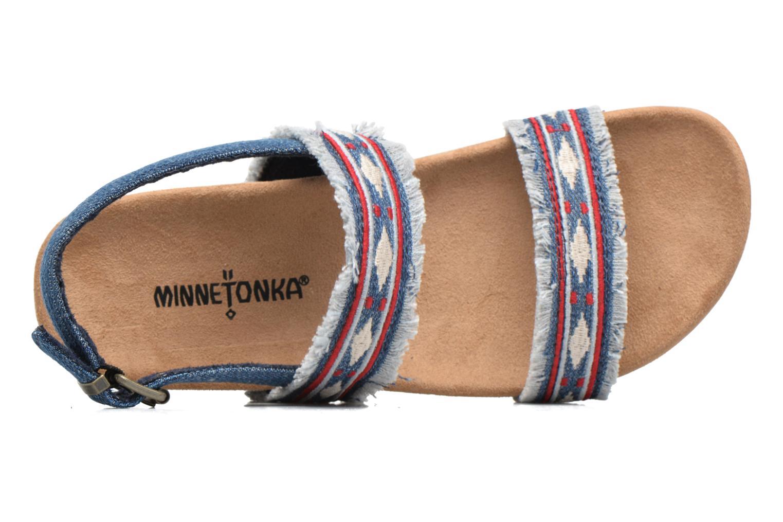 Sandalen Minnetonka Melody blau ansicht von links