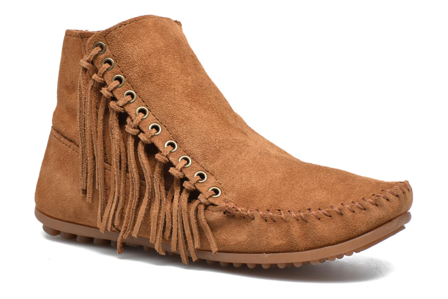 Marques Chaussure femme Minnetonka femme Isabel DUSTY BROWN SUEDE