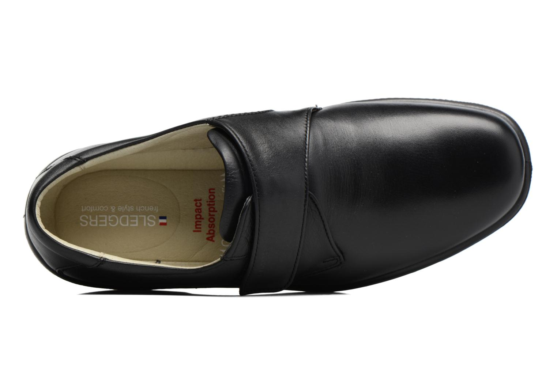 Schoenen met klitteband Sledgers Game Zwart links