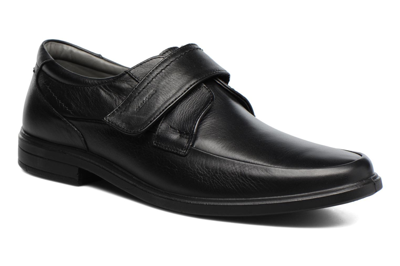 Schoenen met klitteband Sledgers Joute Zwart detail