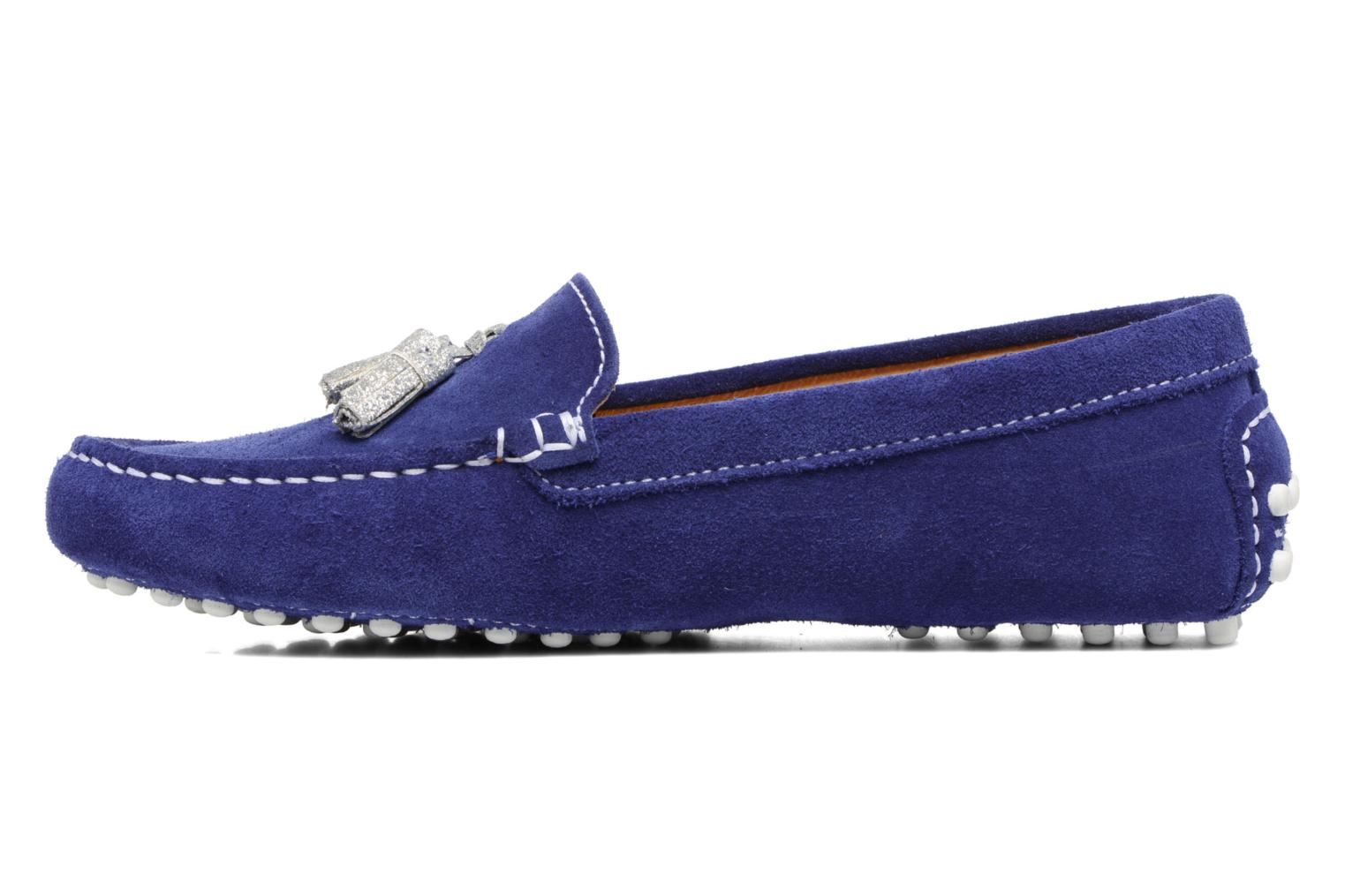 Mocasines Georgia Rose Stamou Azul vista de frente