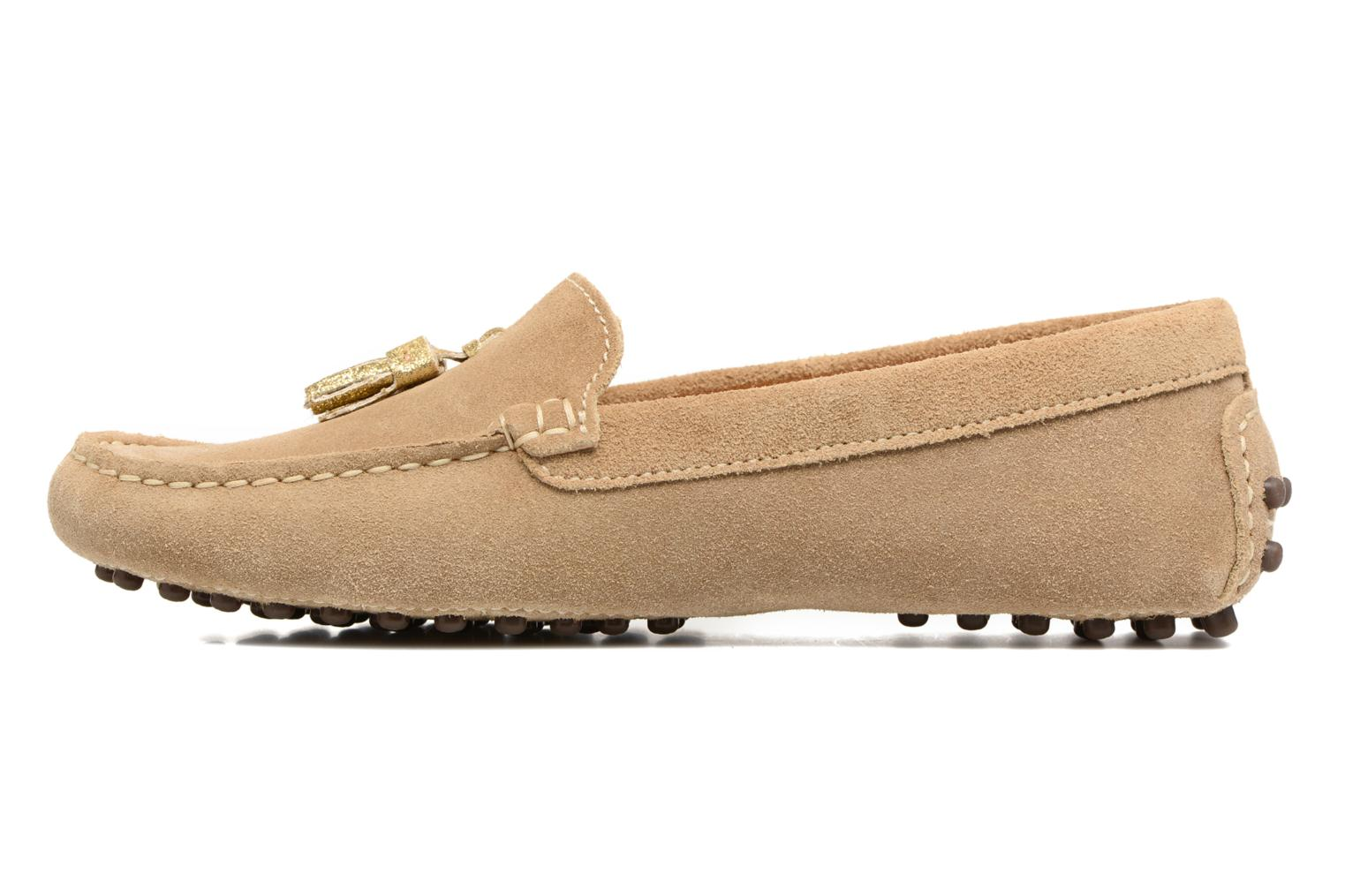 Loafers Georgia Rose Stamou Beige front view