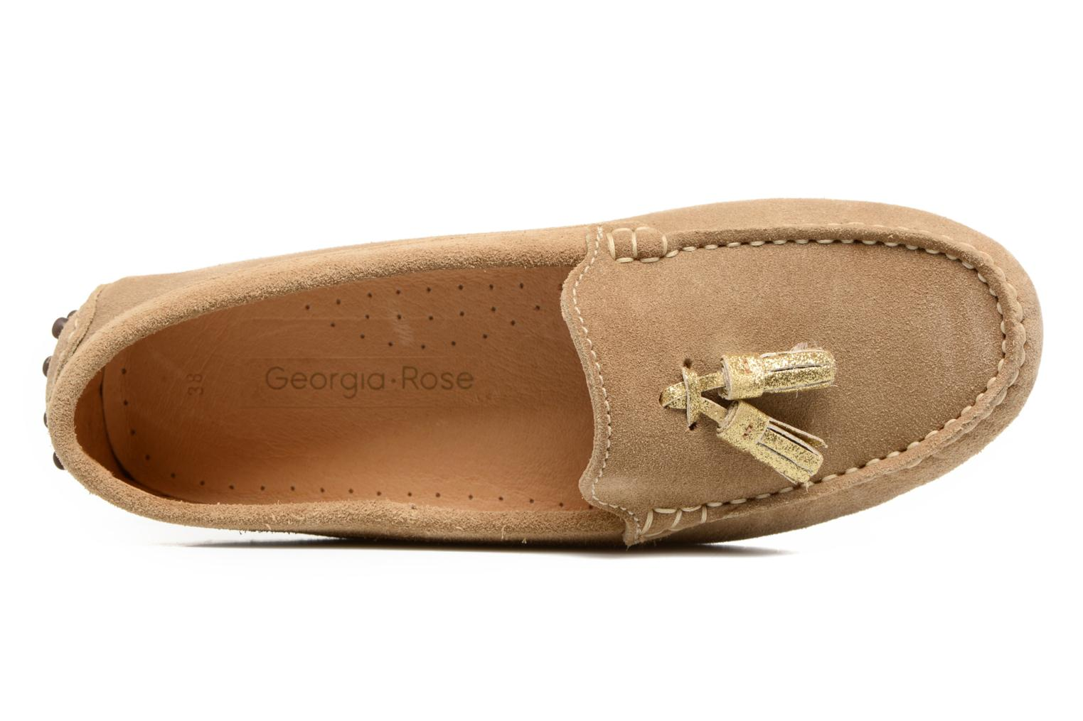 Loafers Georgia Rose Stamou Beige view from the left