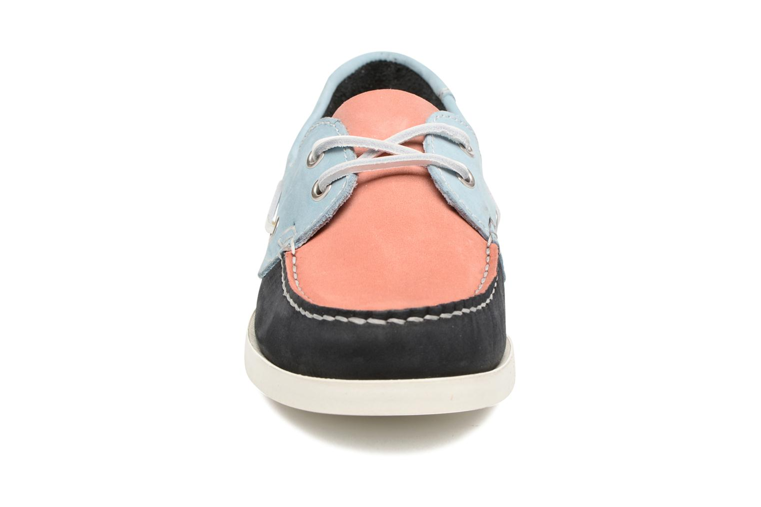 Stateau Nubuck mix rose/ciel/navy