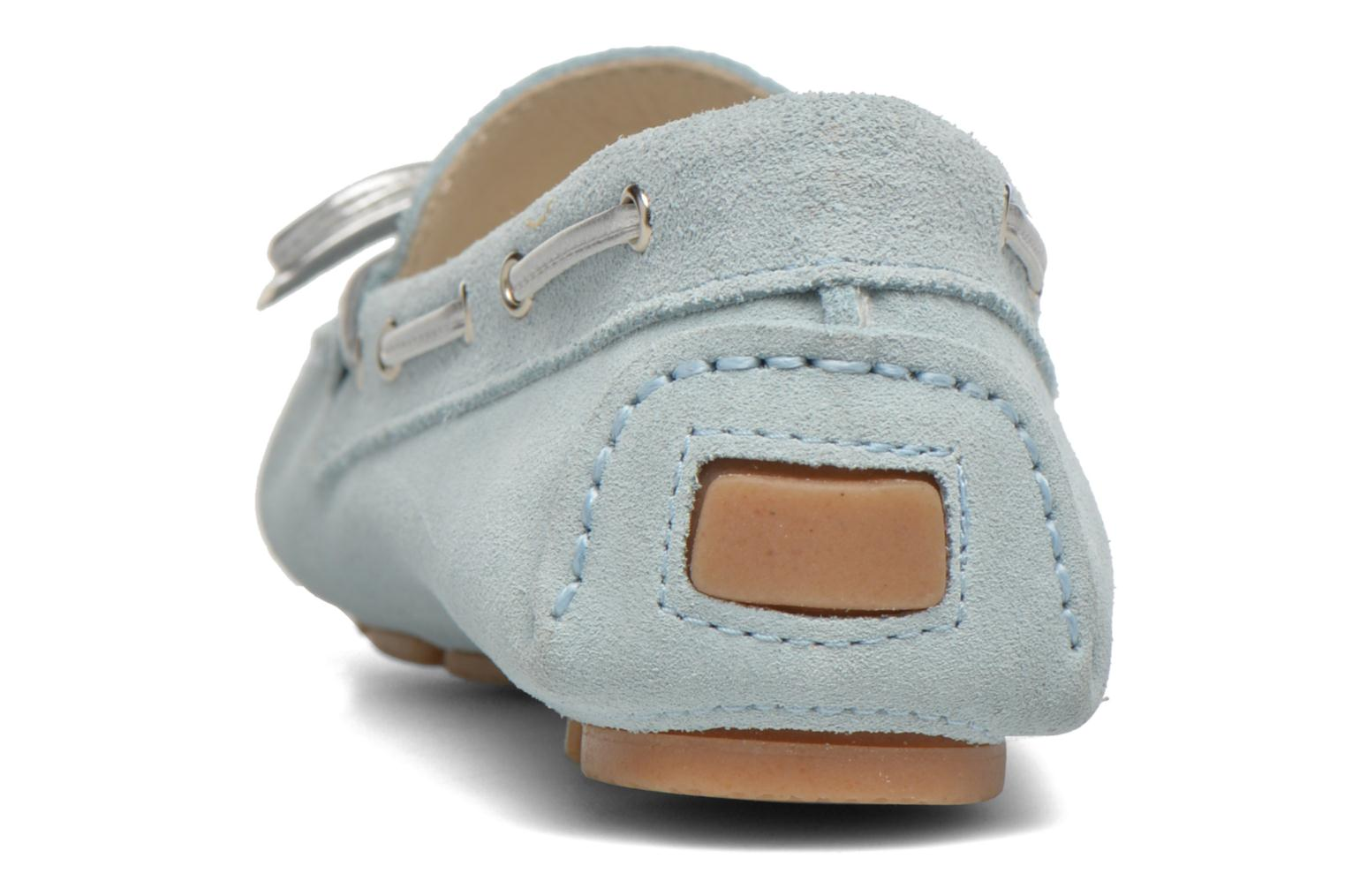 Loafers Georgia Rose Rettac Blue view from the right