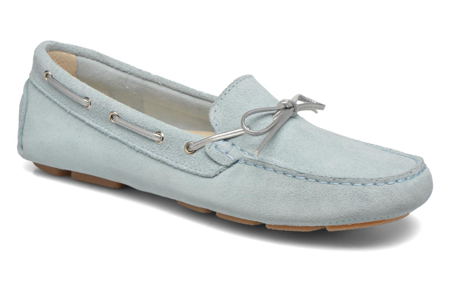 Loafers Georgia Rose Rettac Blue detailed view/ Pair view