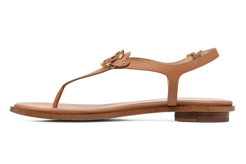 Sandales et nu-pieds Michael Michael Kors Lee Thong Marron vue face