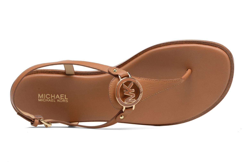 Sandales et nu-pieds Michael Michael Kors Lee Thong Marron vue gauche