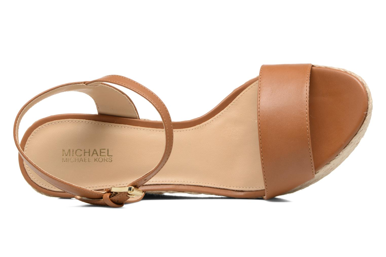 Sandali e scarpe aperte Michael Michael Kors Jill Wedge Marrone immagine sinistra