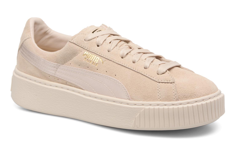 WNS SUEDE PLATF SATIN Pink Tint-Whisper White-Puma Team Gold
