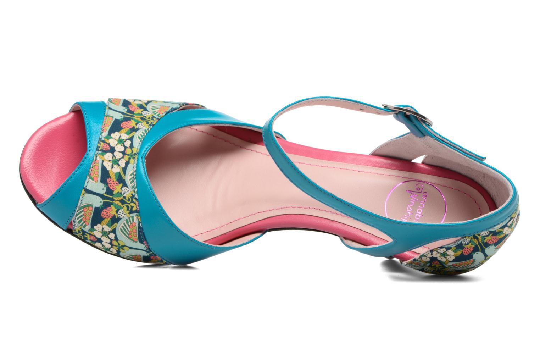 Sandales et nu-pieds Annabel Winship Piu-Piu Bleu vue gauche