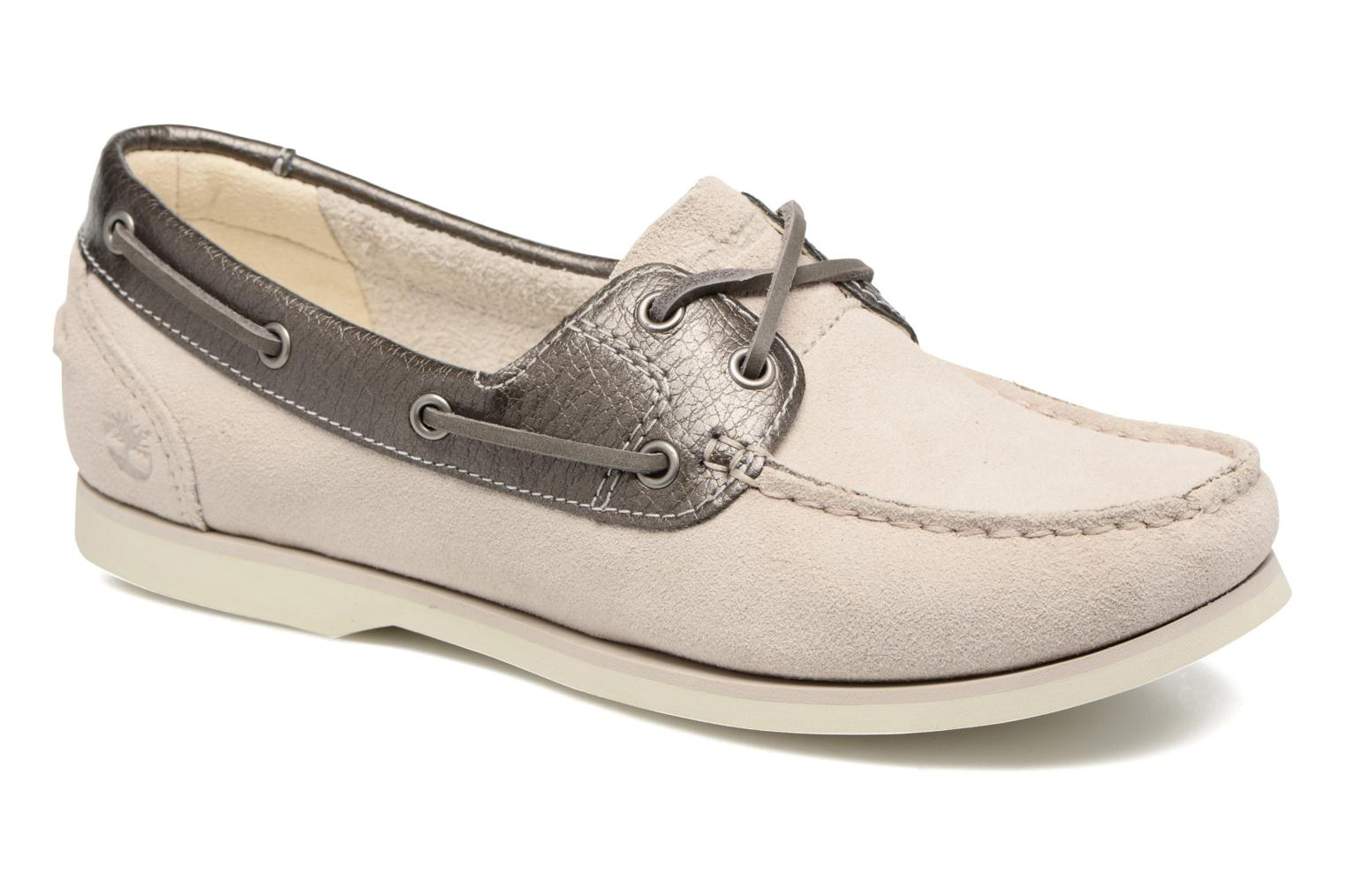 Classic Boat Unlined Boat Rainy Day Suede w/Gunmetal Metallic