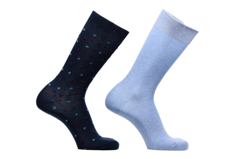 Strømper og tights Sarenza Wear Chaussettes Pack de 2 Homme : Carreaux Coton Blå detaljeret billede af skoene