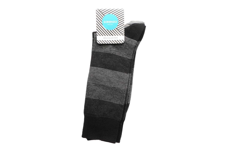 Chaussettes Pack de 3 Homme : Rayures et Carreaux Coton Gris