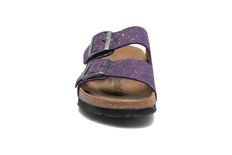 Mules et sabots Papillio ARIZONA cuir nubuck Violet vue portées chaussures