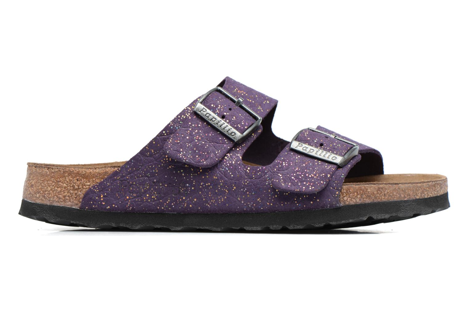 Mules & clogs Papillio ARIZONA cuir nubuck Purple back view