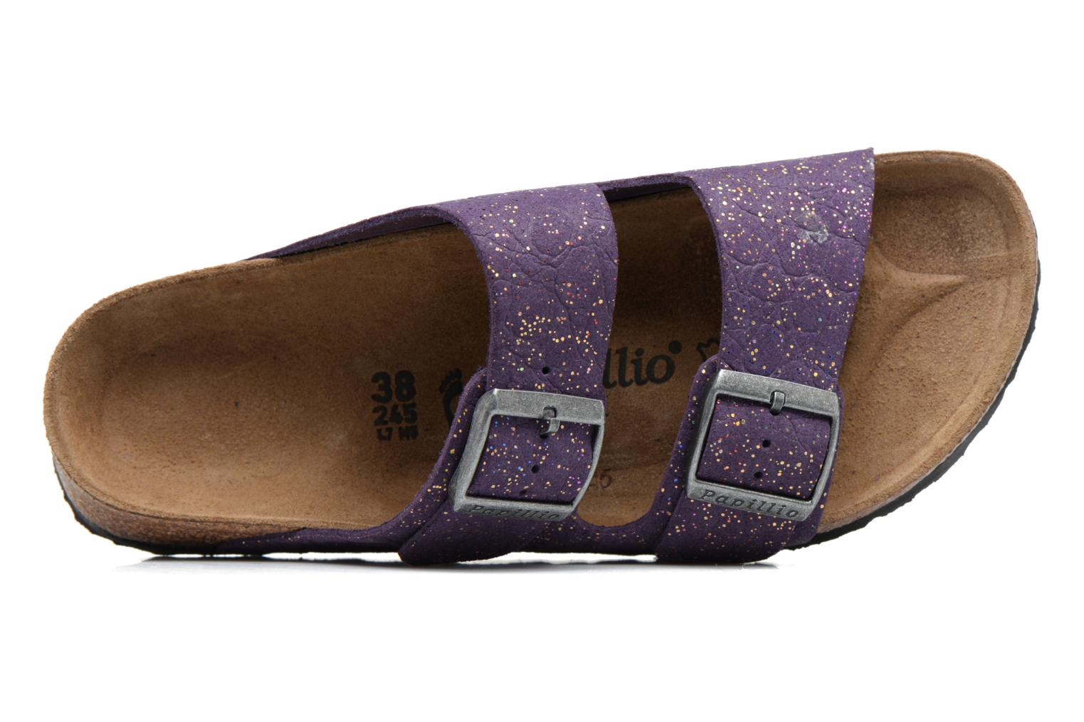 Mules & clogs Papillio ARIZONA cuir nubuck Purple view from the left