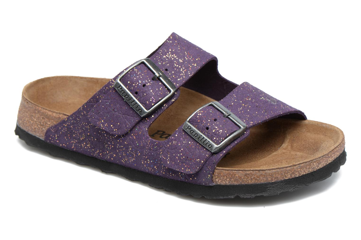 Mules & clogs Papillio ARIZONA cuir nubuck Purple detailed view/ Pair view