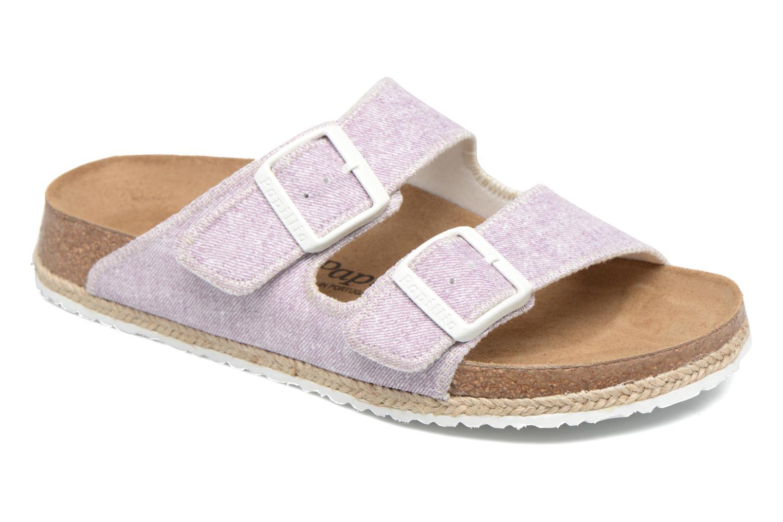 Clogs og træsko Papillio Arizona textile Pink detaljeret billede af skoene
